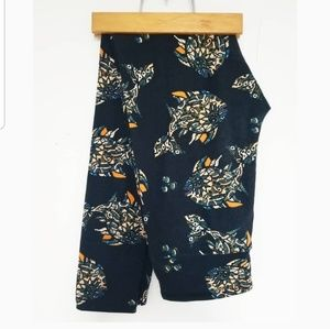 Lularoe rare cute fish print black leggings